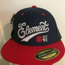 New W Tag 1992 Element Headwear Navy/red 6.5-6.78 210 Fitted Skateboarding Hat Photo