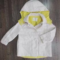 New W Tag 65 Zara Girls Outerwear Toddler Sz 3/4 Beige Yellow Hoodie Jacket Photo