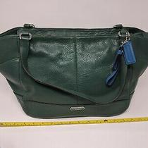 New W/ Tag - Coach Leather Carrie Tote (Coach F23284) Ivy Green Photo