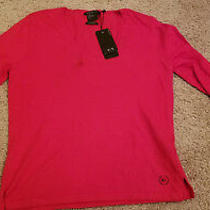 New W/tags - A/x Armani Exchange Cotton Cashmere Red Sweater -retails79.50 Szl Photo