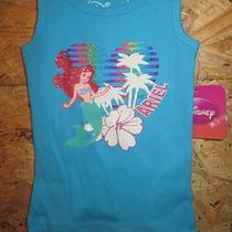 New W/ Tags Disney Brand Tank Top Tinkerbell & Little Mermaid Sizes12 &18 Mon Photo