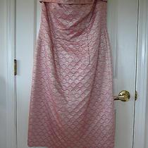 New W/tags Escada   Dress  42  12 2930 Pink Brocade W/gold Photo
