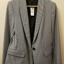 New W/ Tags Express Women's Blazer Size 10 Houndstooth Black and White Photo
