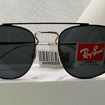New W/ Tags Gold/grey Ray Ban Sunglasses Polarized Rb 3668 9054/87 Nwt ret.123  Photo