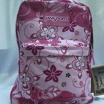 New W/ Tags - Jansport Backpack - Superbreak - 100% Authentic - Pink Flora Photo