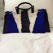 New W/tags Lanvin Patchwork Goat Hair Folding Bag - as Seen in Vogue Photo