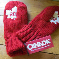 New W/tags Red Hudson Bay Team Canada 2012 Olympics Olympic Winter Mittens-S/m Photo