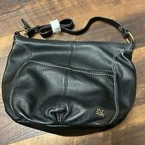 New W Tags the Sak Iris Hobo Shoulder Purse Bag Black Leather 104622 Handbag Photo
