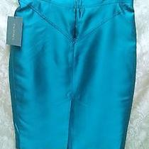 New W/tags Zac Posen Turquoise Color Lined Skirt  Us Size 12  Photo