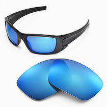 New Walleva Ice Blue Replacement Lenses for Oakley Fuel Cell Sunglasses Photo