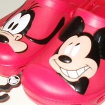 New Walt Disney World Authentic Mickey Mouse Crocs Red Mickey Mouse Sandal J/3 Photo