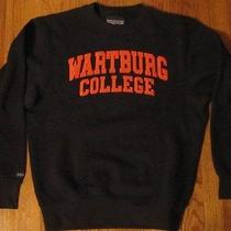 New Wartburg College Jansport Sweatshirt Adult S Black With Orange Letters  Photo