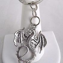 New Wholesale Lot of 2 Fantasy Gothic Dragon Pewter Key Chain Key Ring Photo
