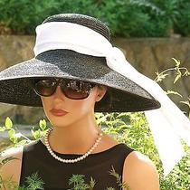 New Wide Brim Hat Audrey Hepburn Hat. Breakfast at Tiffany's Hat Derby Hat  Photo