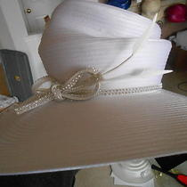 New Wide Hat Black Cogic Convocation Wedding Church Derby Photo