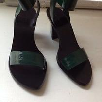 New With Box Alexander Wang Ariel Green Leather Ankle Strap Sandal 37 Us7 No Res Photo