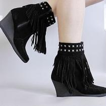 New With Box Minnetonka Boots Shoes Black 7.5m Photo