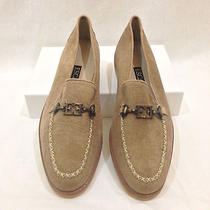 New With Box Never Worn Luxury Designer Vintage Escada Loafers Shoes Gum Sole. Photo