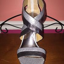 New With Box Size 8.5 Women Coach Silver Metallic Sandals Photo