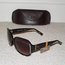 New With Case Authentic Fossil Winter 3 St Brown Sunglasses - Retail 70 Photo