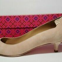 New With Defects Tory Burch Elizabeth Pump Perfect Blush Suede Sz 8 Photo
