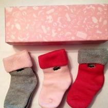 New With Gift Box Lacoste Baby Socks Gift Set One Size Lk Photo