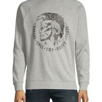 New With Tag - 128 Diesel Grey Graphic Cotton-Blend Sweatshirt Size Xxl Photo