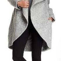 New With Tag - 745.00 Zac Zac Posen Camilla Lunar Rock Shawl Collar Coat Size M Photo