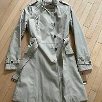 New With Tag Beige Stone Cole Haan Trench Coat Size M Fit Flare With Belt Photo