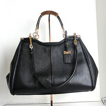 New With Tag-Coach Madison Pinnacle Caroline Satchel in Textured Leather 32378 Photo