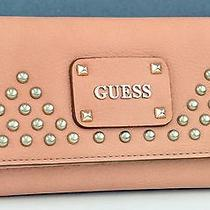 New With Tag Guess Ladies Pavilla Wallet Blush Purse Nwt Photo