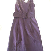 New With Tag h&m Purple Cotton Polyester Blend Sleeveless Belted Dress 11 B307 Photo