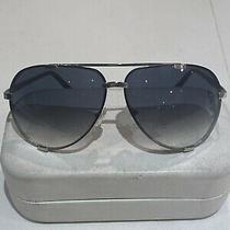New With Tag - Marc Jacobs Gunmetal/smoke Aviator Sunglasses With Blue Gradient Photo