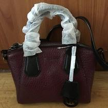 New With Tag on Michael Kors Xs Campbell  Satchel in Merlot and Black Color Photo