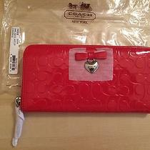 New With Tag Red Heart Leather Coach Wallet Photo