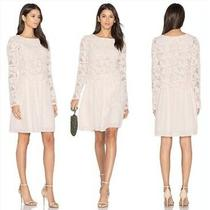 New With Tag See by Chloe Lace Crochet Cotton Mini Dress in Blush - Size 34/xs Photo
