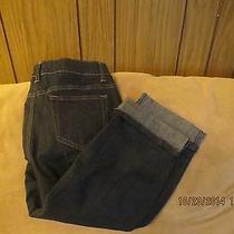 New With Tag St John's Bay Capri Dark Blue Jeans  Size 4 W-28 I-20 Photo