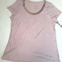 New With Tag Women's Juicy Couture Short Sleeve Top Size Xl Blush Color Photo