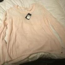New With Tage Guess Womens Pink Long Sleeve Sweater Sz Xl Photo