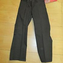 New With Tags -Boys Dickies Boot Cut Twill Pant-Size6 Brownish/black Qp100  15 Photo
