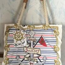 New With Tags Brighton Sail Into Summer Beach Cruise Nautical Canvas Tote Photo