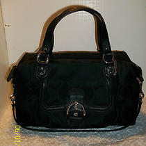 New With Tags Coach Campbell Black Signature Satchel  F25292-With Gift Receipt Photo