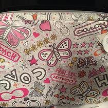 New With Tags Coach Grey Multicolor Flower and Butterflies Computer Case--Nice Photo