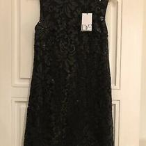 New With Tags Diane Von Furstenberg Black Sequin Shift Dress Size Us 4 / Uk 10 Photo