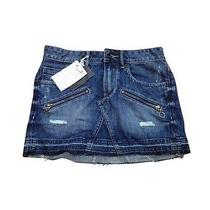 New With Tags Distressed Denim Grunge Converse Skirt -- Size 24 (00) Photo