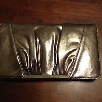 New With Tags Express Silver Clutch Photo