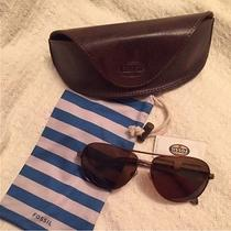 New With Tags Fossil Aviator Sunglasses Photo