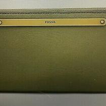 New With Tags Fossil Liza Rfid Zip Around Clutch Wallet in Green Photo