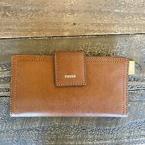 New With Tags Fossil Logan Rfid Tab Wallet in Brown Photo