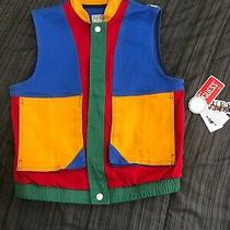 New With Tags Guess Women's Guess X J Balvin Colorblock Denim Vest Size Medium Photo